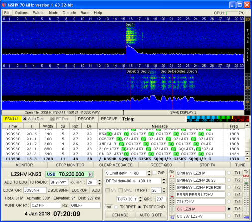 MSHV Amateur Radio Software | LZ2HV Amateur Radio Website